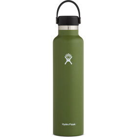 Hydro Flask Standard Mouth Drinkfles met standaard Flex Cap 709ml, olive